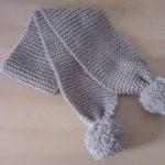 Tricot écharpe bébé facile