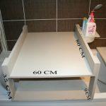 Table à langer qui se pose sur baignoire
