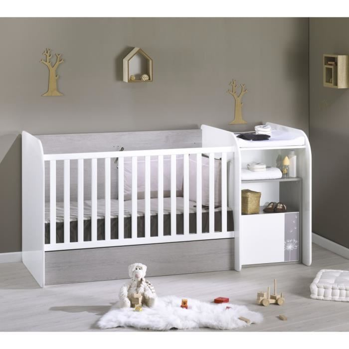Lit b b table langer int gr e tout pour le b b for Lit bebe avec table a langer integree