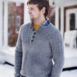 Modele pull homme a tricoter gratuit