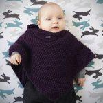 Poncho a tricoter bebe