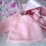 Modèle de brassière à tricoter