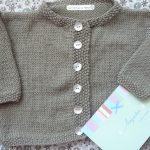 Tricoter gilet bébé 9 mois