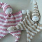 Doudou bébé tricot