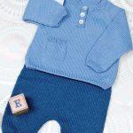 Tricot pantalon bébé 6 mois