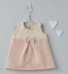 044135e29876d Tricot bébé fille robe - Tout pour le bébé