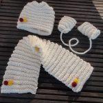 Tricot écharpe bébé débutant