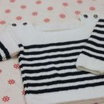 Tricot bebe pull marin