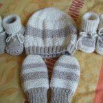 Tricot chausson bébé 4 aiguilles