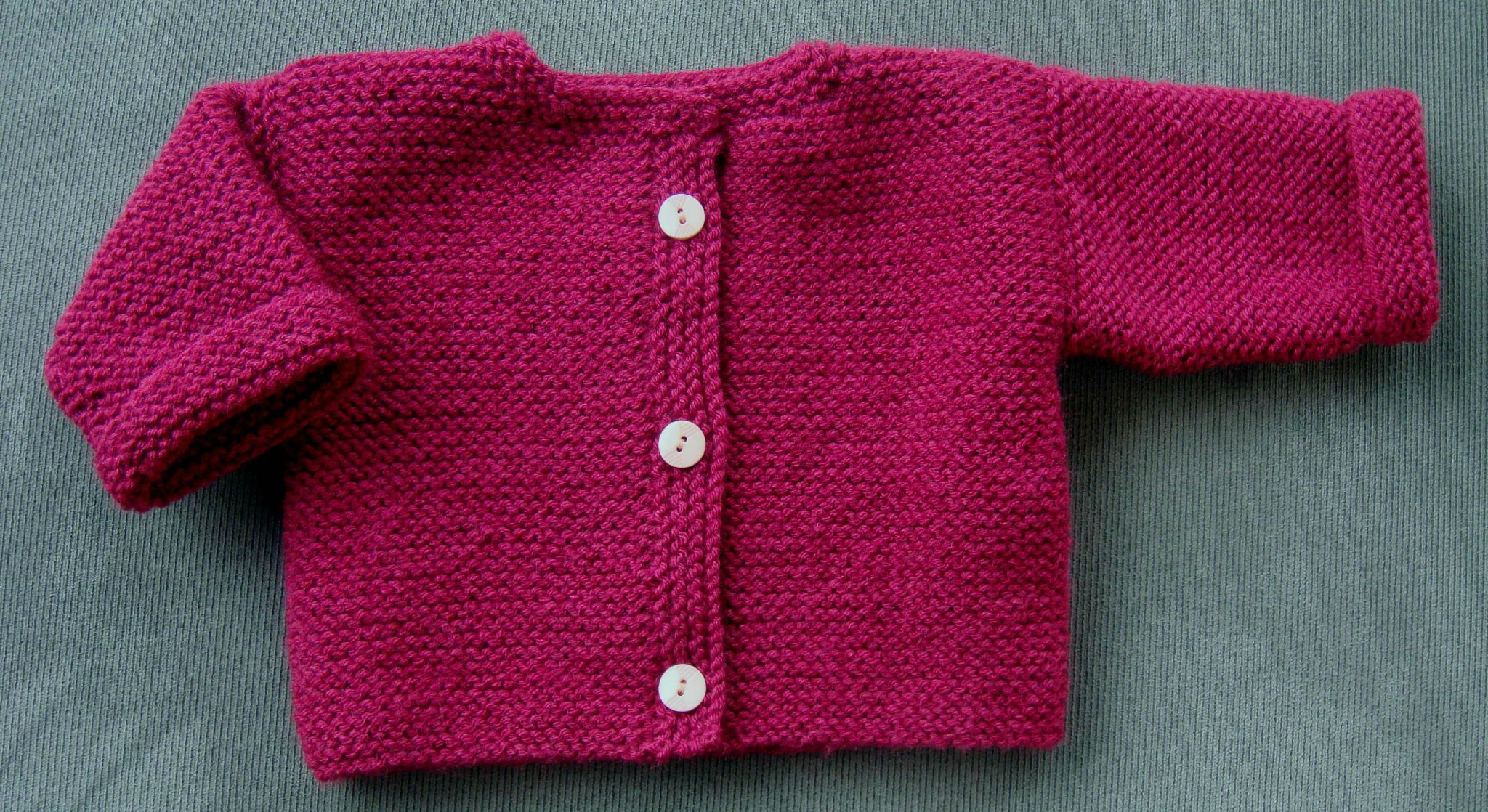 pull bebe fille a tricoter