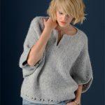 Modèle de pull à tricoter femme