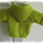 Paletot a tricoter bebe