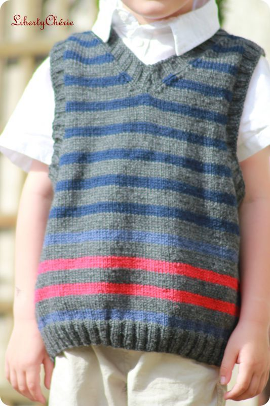 Modele debardeur tricot garcon gratuit -