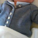 Tricot gilet bébé 3 mois