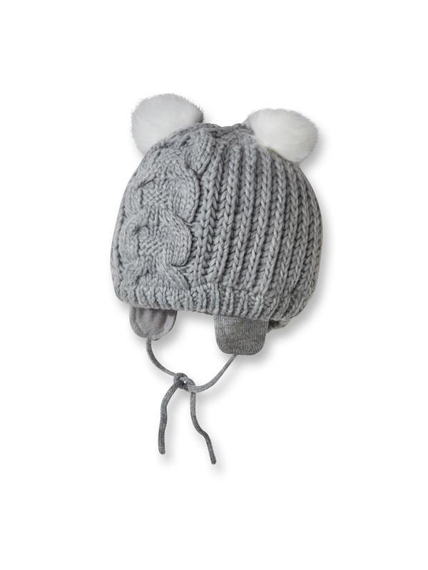 Tricot bonnet bébé oreilles