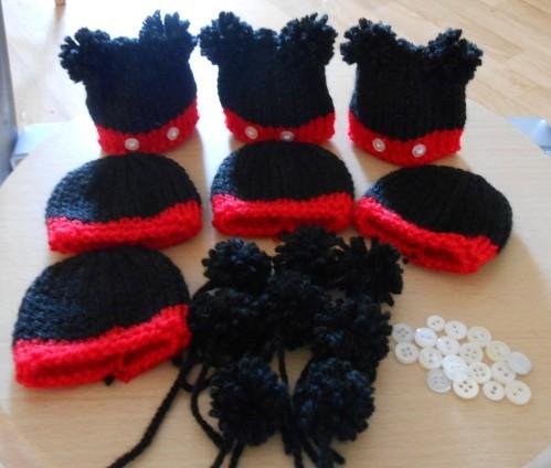 Tricoter un bonnet mickey