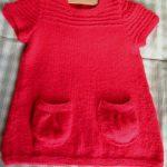 Tricot bébé fille robe