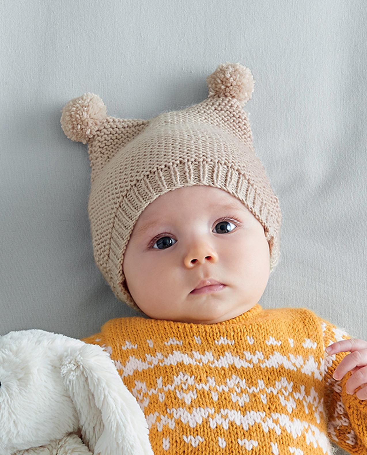 Tricot bébé gratuit bonnet