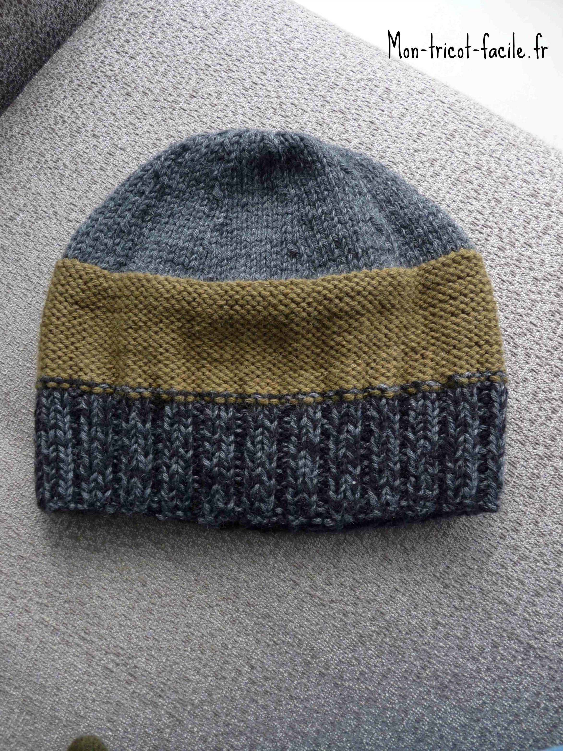 Tricoter un bonnet d'homme