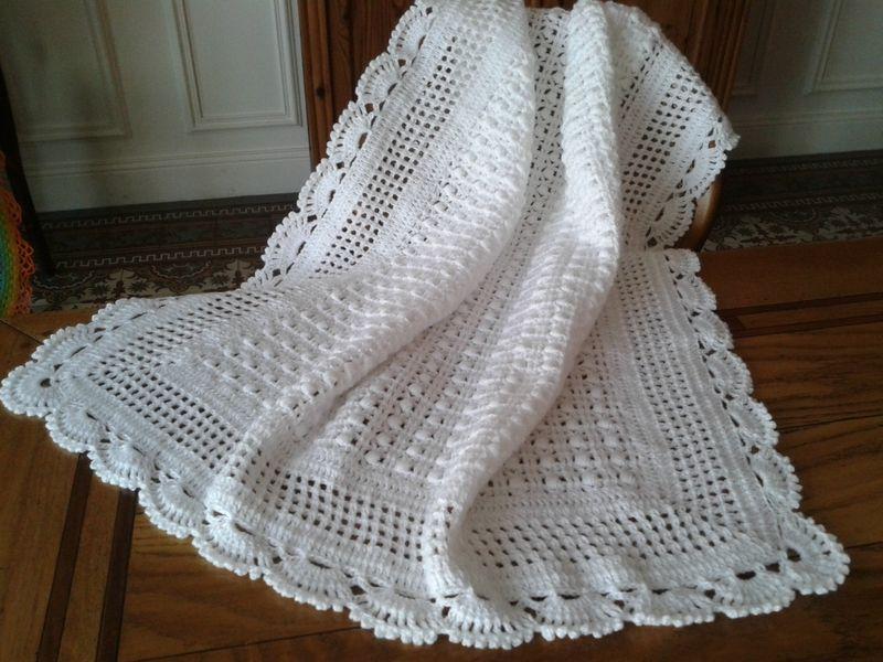 Couverture bébé tricot ou crochet