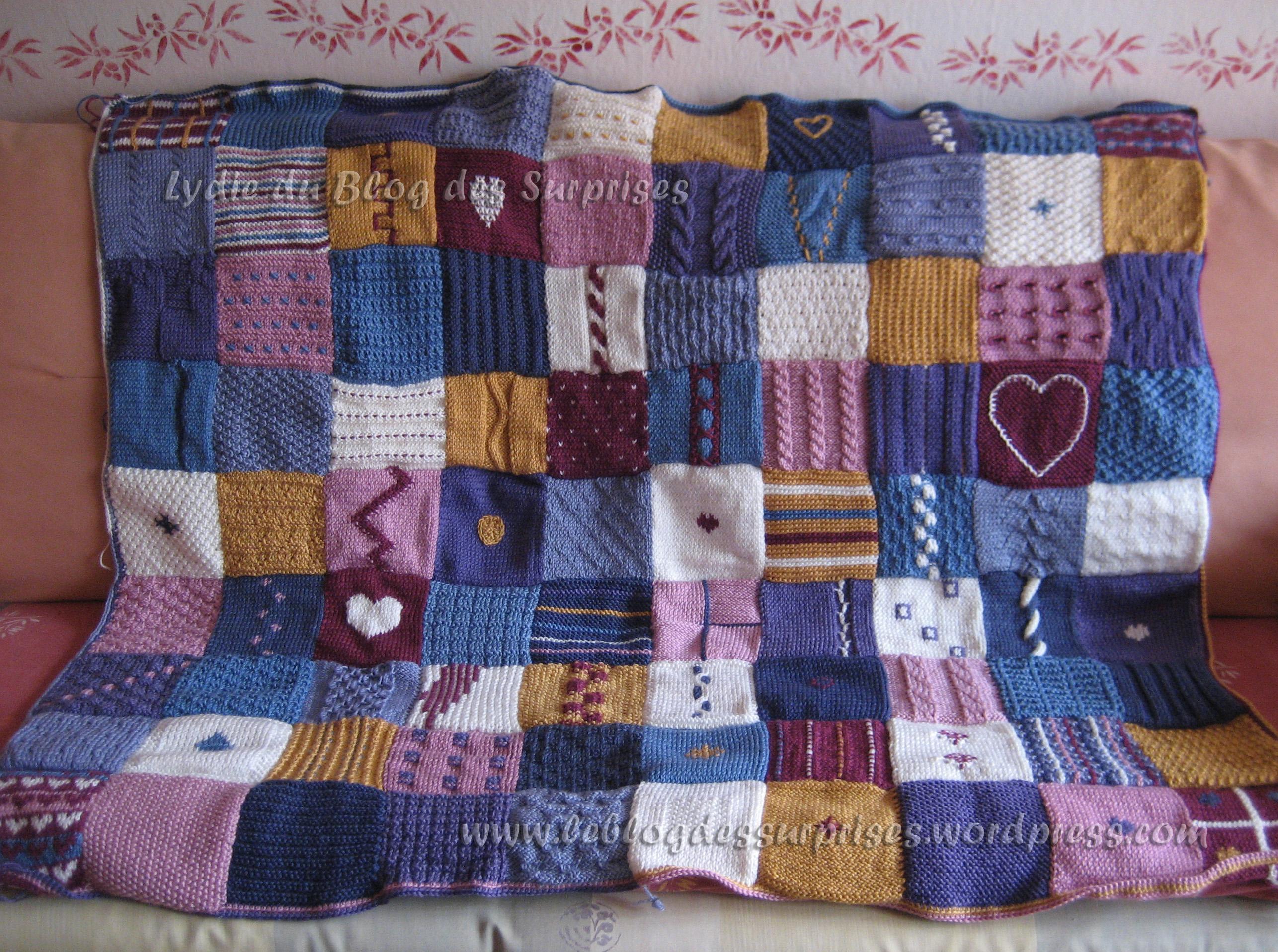 Tricoter un plaid débutant