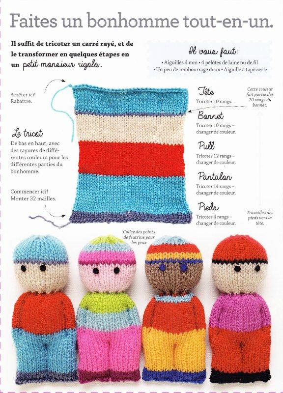 Tricoter avec 4 couleurs