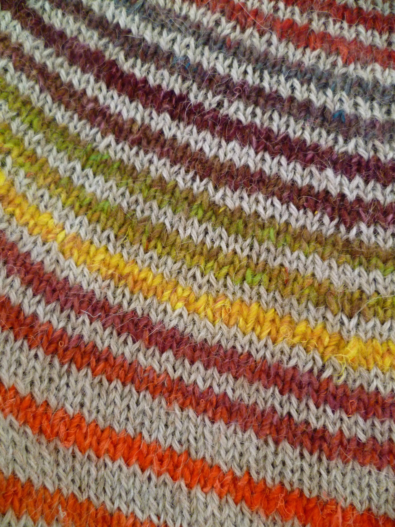 Tricot rond rayures
