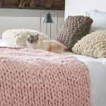 Comment tricoter un plaid grosse maille