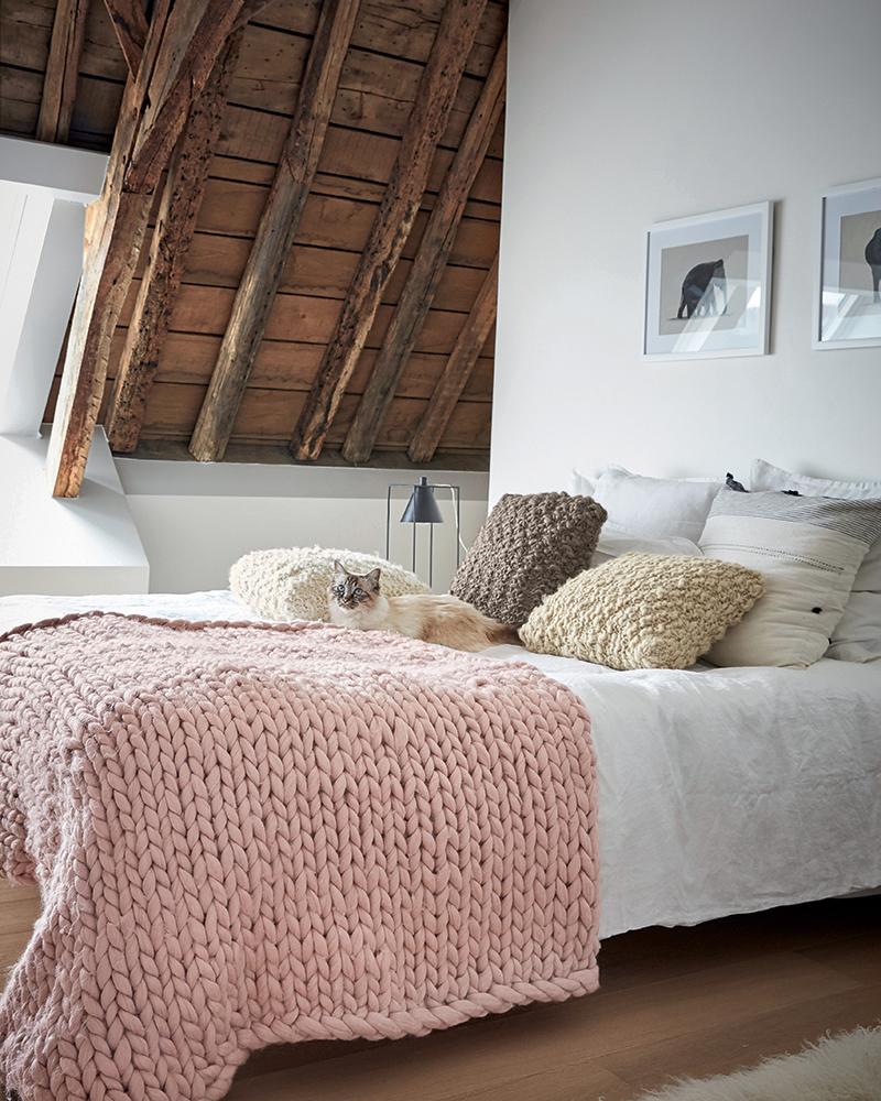 Tricoter un plaid en tricot