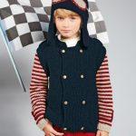 Tricot bonnet aviateur bébé
