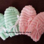 Tricoter moufles naissance