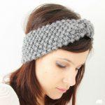 Tricoter headband laine