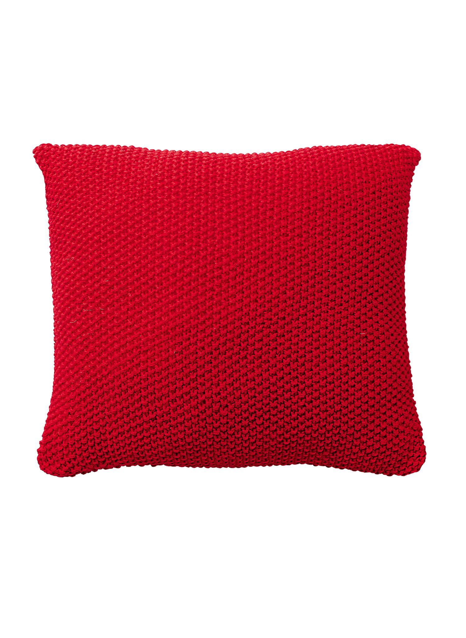 Coussin tricot point de riz