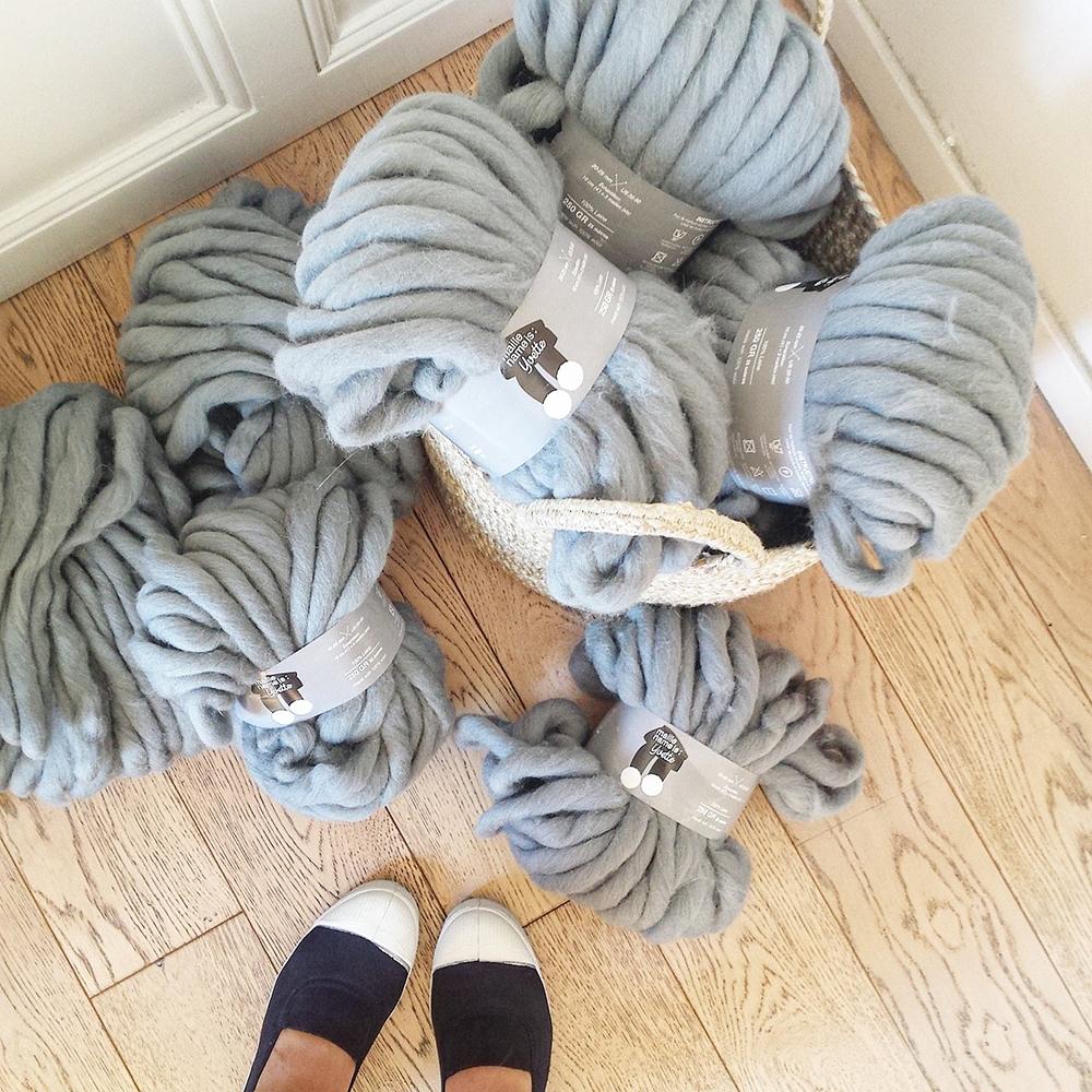 Tricoter avec les bras facile