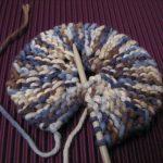 Tricoter en rond plat
