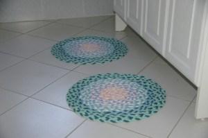 Tuto tapis tricotin