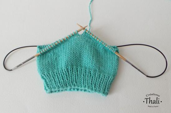 Tricoter en rond avec peu de mailles