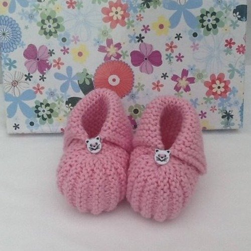 Tricoter chaussons layette