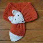 Tricot écharpe bébé