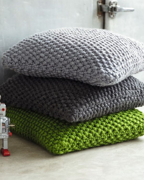 Tricot facile coussin