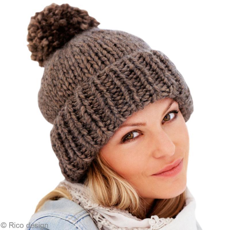 Bonnet tricot femme debutant