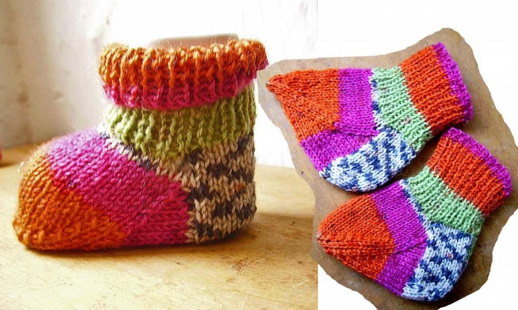 Tricoter chaussettes bébé aiguilles circulaires