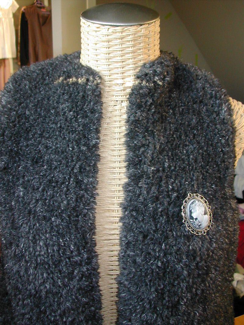 Tricoter gilet sans manche femme