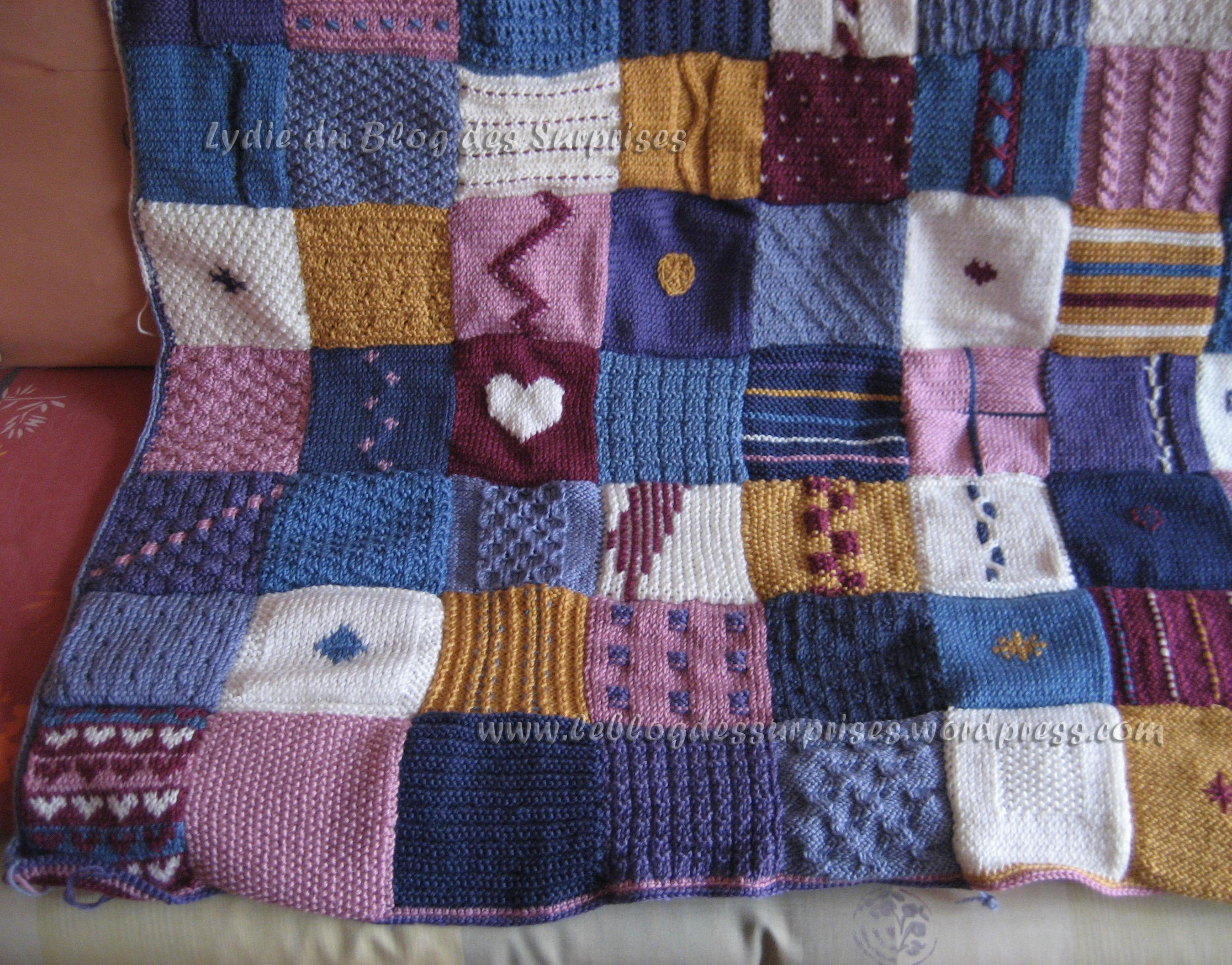 Tricoter un plaid simple