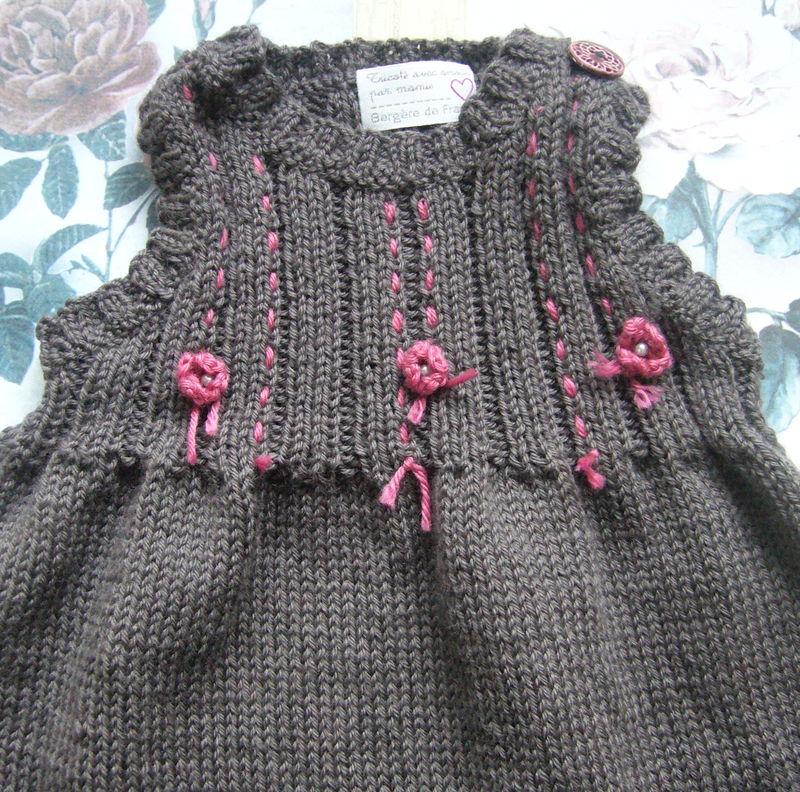 Tricot robe bébé bergere de france