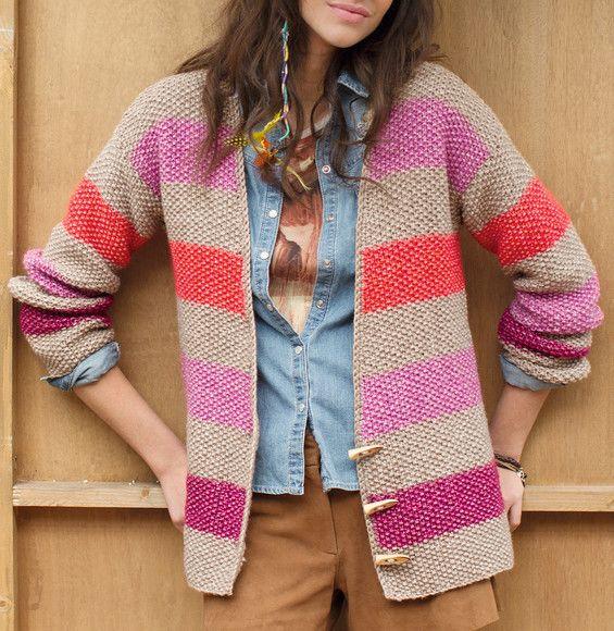 Modele tricot gilet femme point de riz