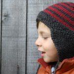 Tricot bonnet bébé avec oreilles patron