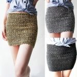 Tricoter jupe