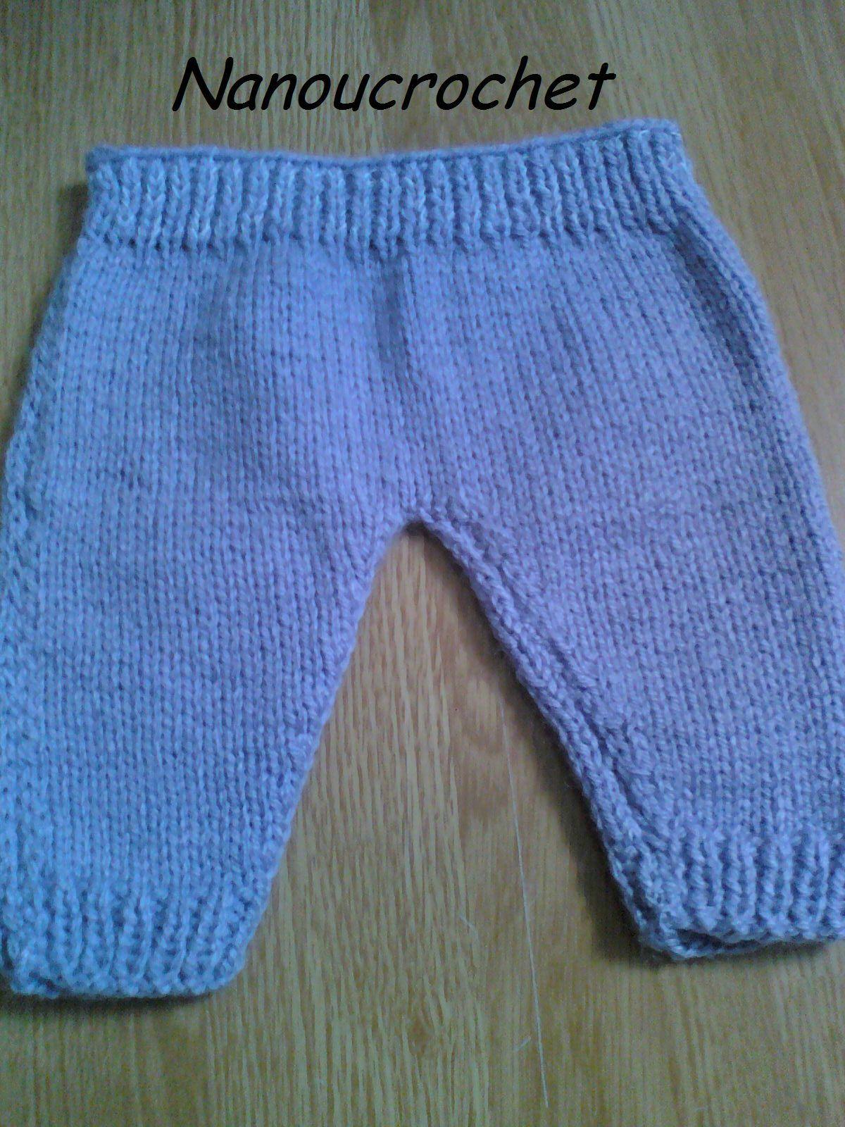 Tricot bebe pantalon