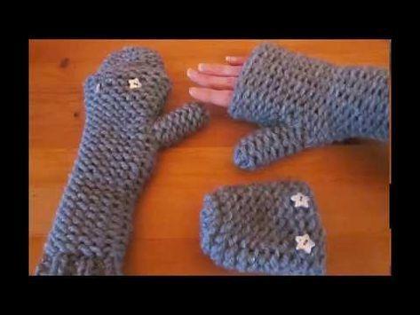 Tuto tricotin mitaine